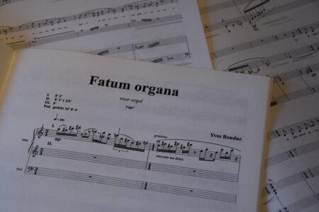Fatum Organa, orgelwerk door Yves Bondue