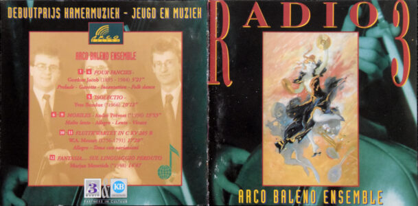 Isolectio van Yves Bondue op Radio 3 (Klara)-cd Arco Baleno