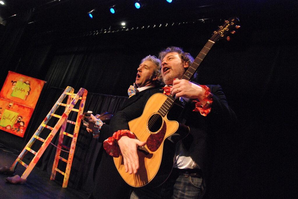 Steef Coorevits & Yves Bondue in de muziektheatervoorstelling Piep Kadul