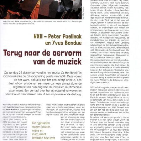 WXII, WXII in muziekmagazine Folk, Muziekmozaïek, 2014