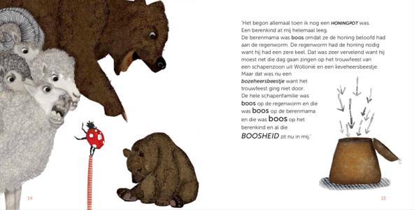 fragment uit Curieuzeneuzemosterdpot van Yves Bondue & Harlinde Keymolen