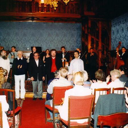 KAMELEON VOOR SYMFONISCH KAMERORKEST, Lucien Posman & Yves Bondue in het Componistenhuis, Sint-Petersburg, 2004